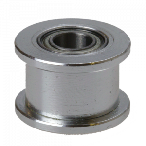 GT2 driven pulley with bearing (no teeth / 6 mm belt / 3 mm ID)