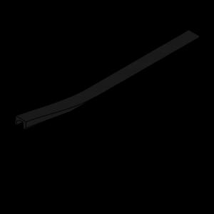 Slot cover 6mm for 20x20 Aluminum extrusions - Black ( per meter )